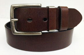 G Bar D Men's Brown 40 MM Non-Stitch Leather Belt, Brown, hi-res