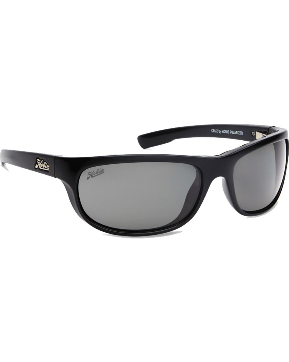 Hobie Men's Shiny Black Cruz Polarized Sunglasses , Black, hi-res