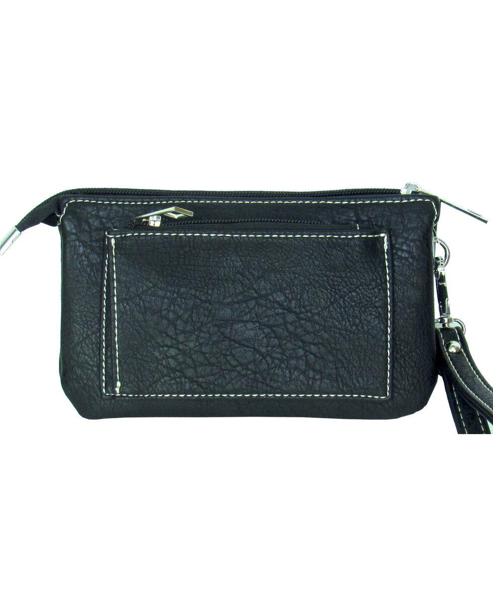 Savana Women's Faux Leather Clutch Zip Wristlet , , hi-res