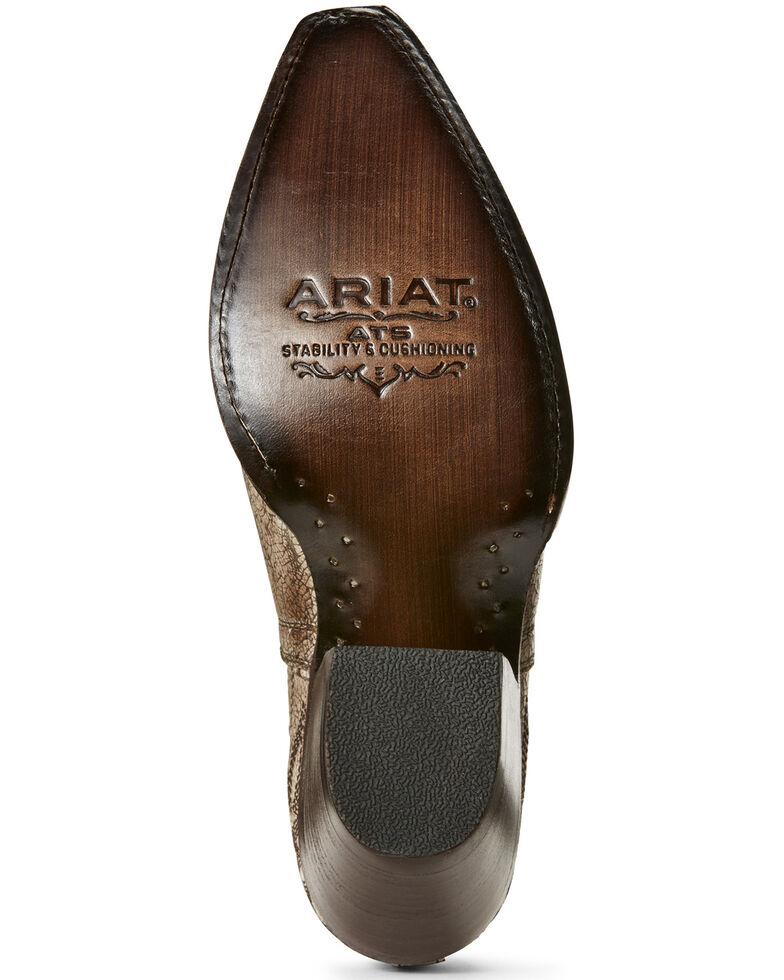 Ariat Women's Dixon Blanco Western Booties - Snip Toe, White, hi-res