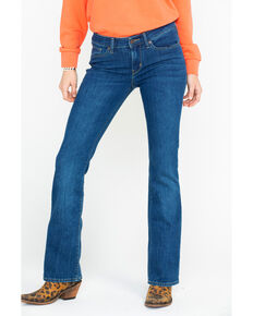 Levi's Women's 715 Vintage Sound of Vision Bootcut Jeans, Blue, hi-res