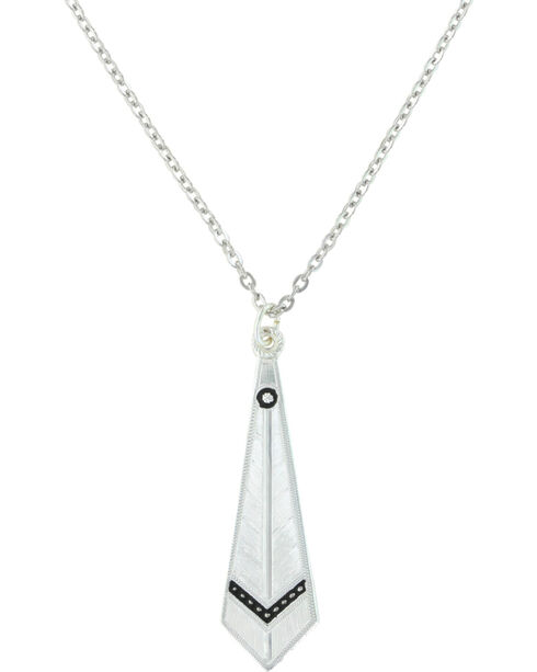 Montana Silversmiths Women's Silver Keen Feather Necklace , Silver, hi-res