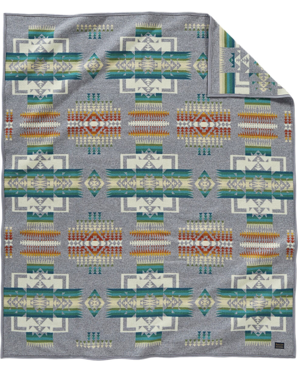 Pendleton Grey Chief Joseph Blanket , Grey, hi-res