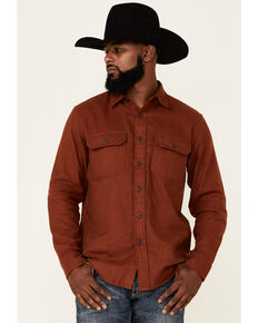 Pendleton Men's Spice Red Burnside Long Sleeve Button-Down Western Flannel Shirt , Red, hi-res