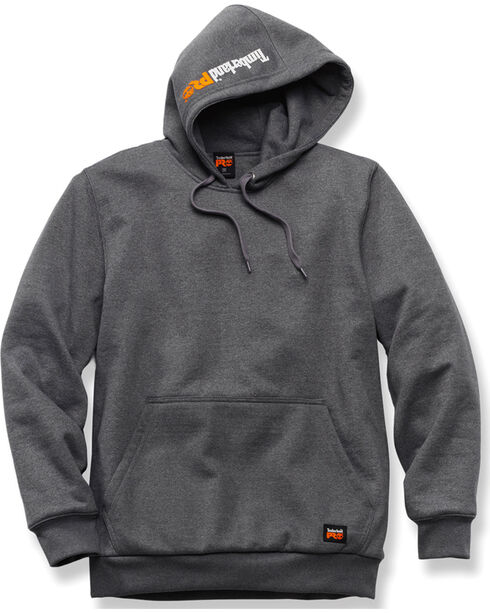 Timberland PRO Men's Grey Double Duty Hooded Pullover , Charcoal Grey, hi-res