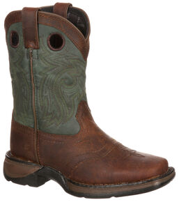 ba3cb5d48547 Lil Durango Youth Saddle Western Boots - Square Toe