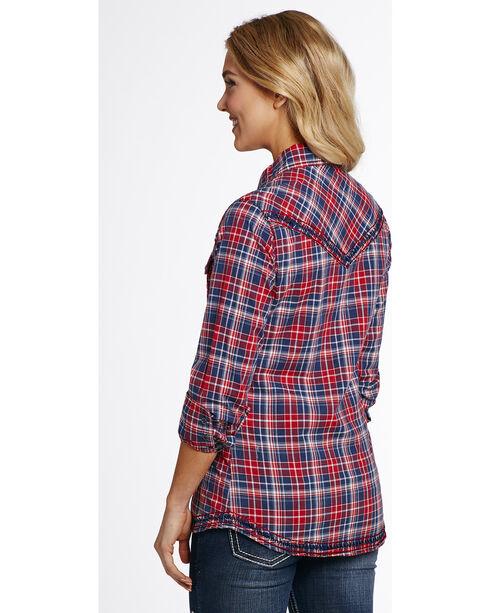 Cowgirl Up Women's Vintage Wash Plaid Shirt , , hi-res
