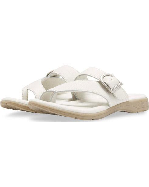 Eastland Women's Stone Tahiti III Adjustable Thong Sandals , Natural, hi-res