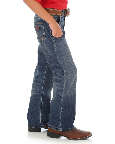 Wrangler Retro Boys' Lawton Relaxed Jeans (8-16) - Boot Cut, Indigo, hi-res