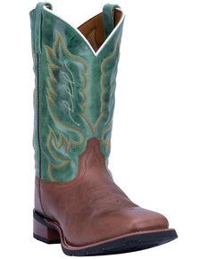 Laredo Men's Montana 2 Western Boots - Wide Square Toe, Green/brown, hi-res