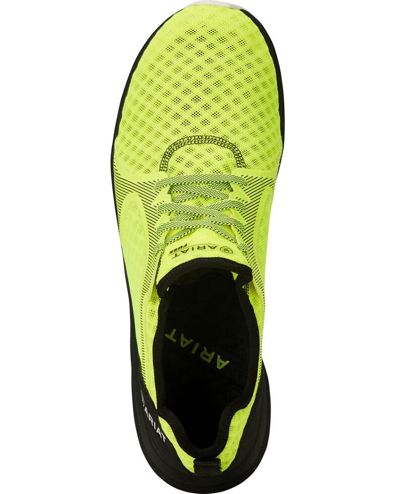Ariat Men's Fuse Neon Yellow Mesh Shoes, Yellow, hi-res