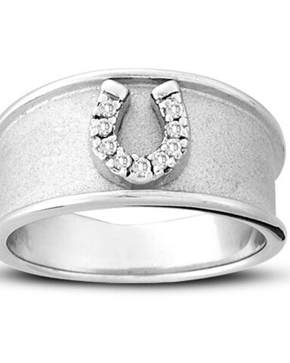 Kelly Herd Women's Silver Horseshoe Band Ring , Silver, hi-res