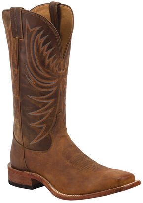 Tony Lama Soft Honey Americana Cowboy Boots - Square Toe , Honey, hi-res