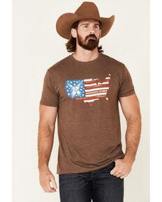 Moonshine Spirit Men's 120 Proof USA Graphic Short Sleeve T-Shirt , Distressed Brown, hi-res