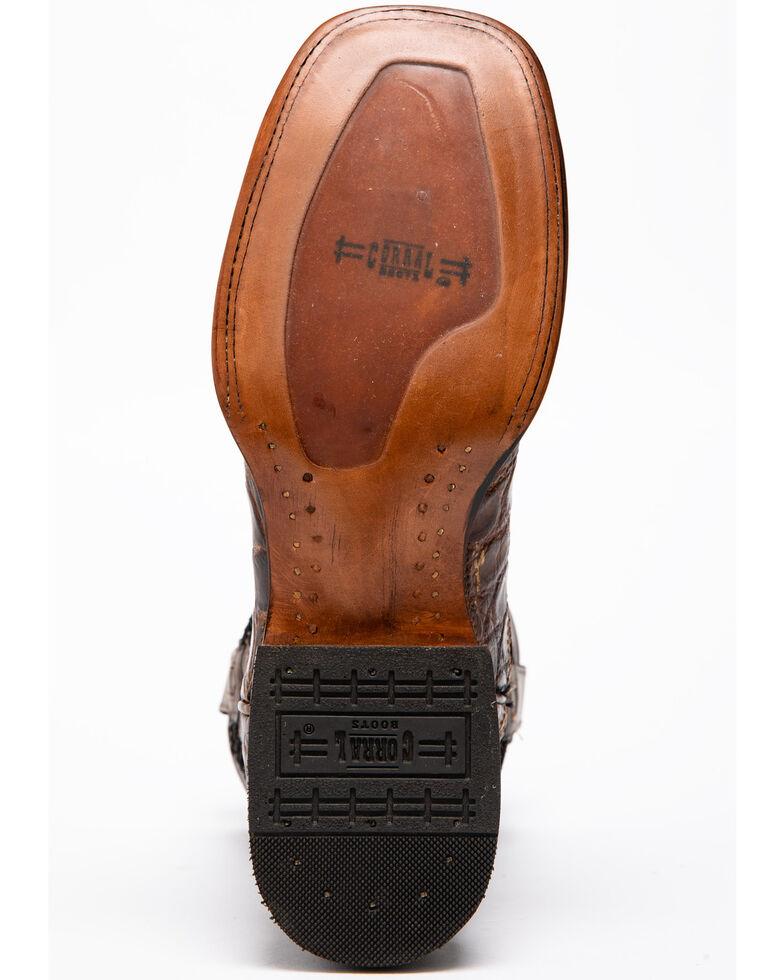 Corral Alligator Cowboy Boots - Square Toe , Honey, hi-res