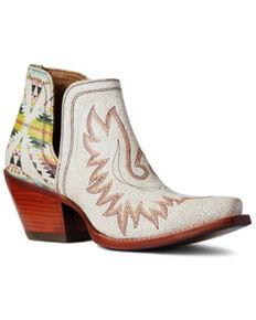 Ariat Women's Pendleton Dixon Fashion Booties - Snip Toe, White, hi-res