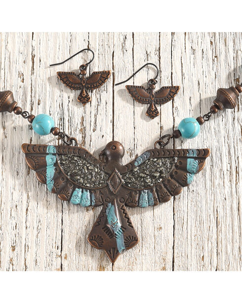 Shyanne Women's Thunderbird Jewelry Set, Rust Copper, hi-res