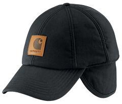 Carhartt WorkFlex® Ear-Flap Cap, Black, hi-res