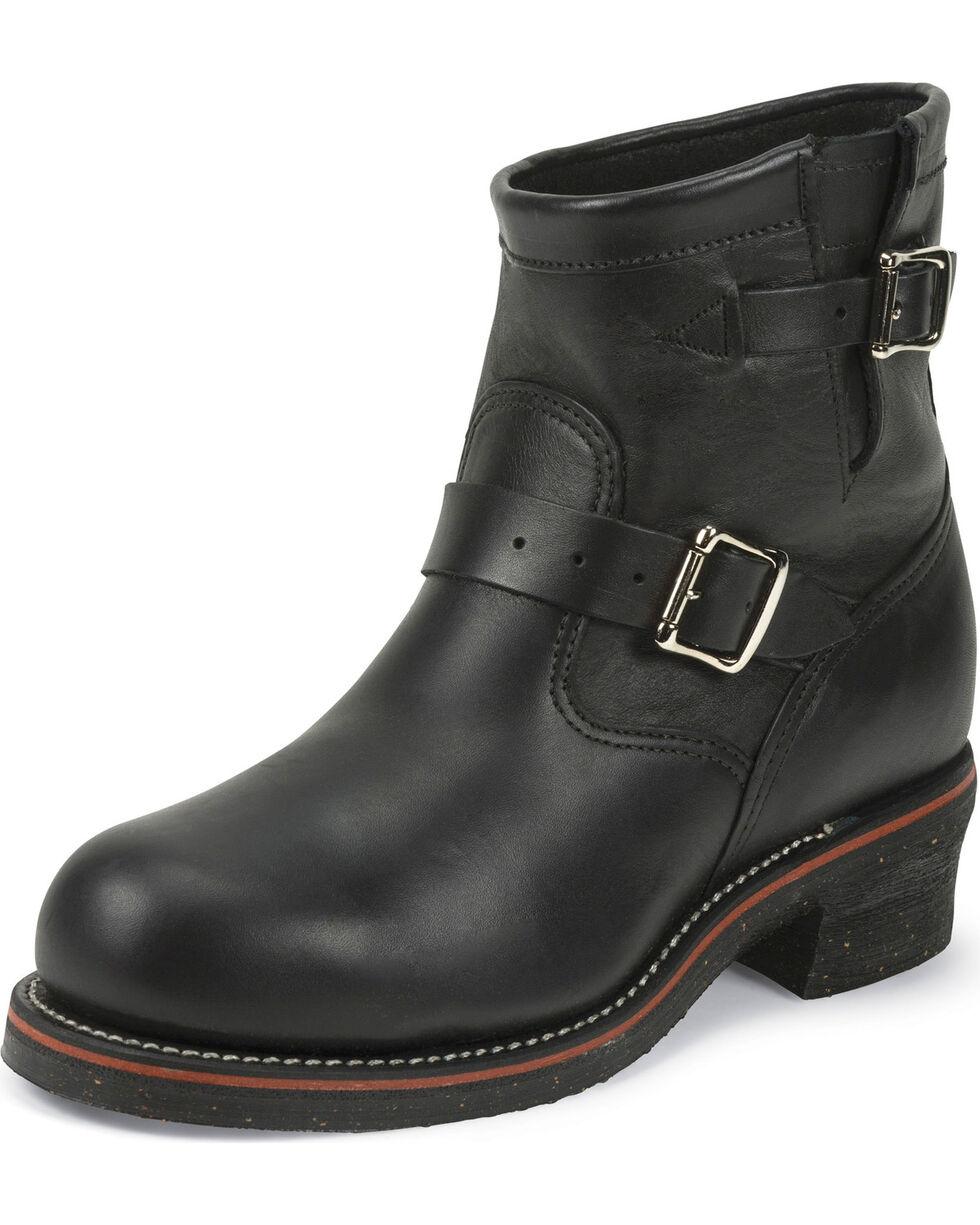 "Chippewa Men's Odessa Black 7"" Engineer Boots - Steel Toe, Black, hi-res"