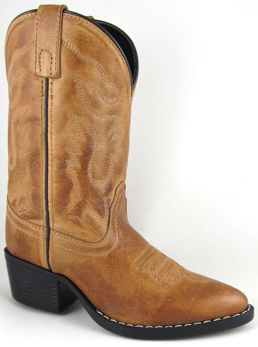 Smoky Mountain Boys' Dakota Western Boots - Medium Toe, Tan, hi-res
