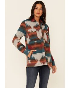 Idyllwind Women's Dawn Shacket Jacket , Teal, hi-res