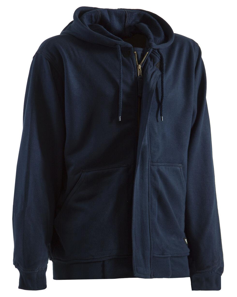 Berne Navy Flame Resistant Hooded Sweatshirt - Tall 2XT, Navy, hi-res