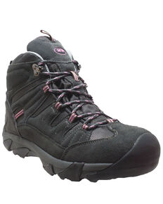 Ad Tec Women's Waterproof Lace-Up Work Boots - Composite Toe, Grey, hi-res