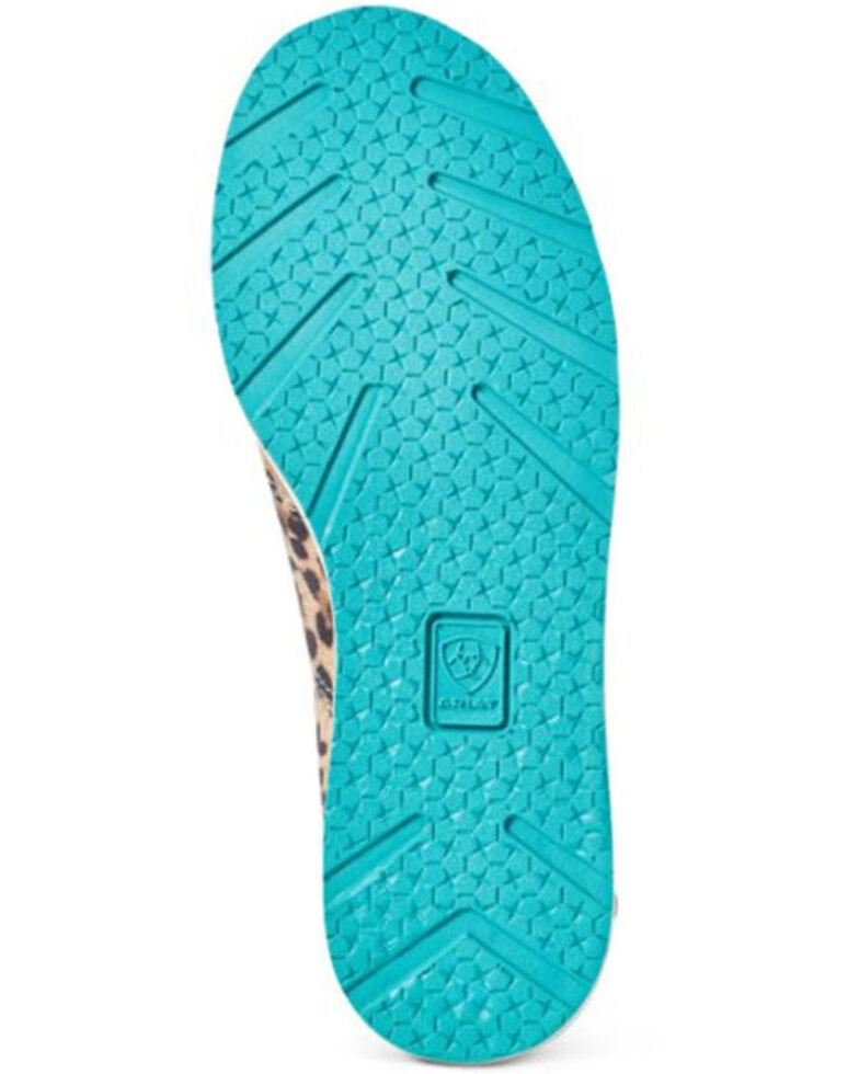 Ariat Girls' Cheetah Print Shoes - Moc Toe, Cheetah, hi-res