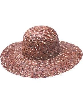"""Peter Grimm Boca 4 1/2"""" Dark Brown Raffia Straw Sun Hat, Dark Brown, hi-res"""