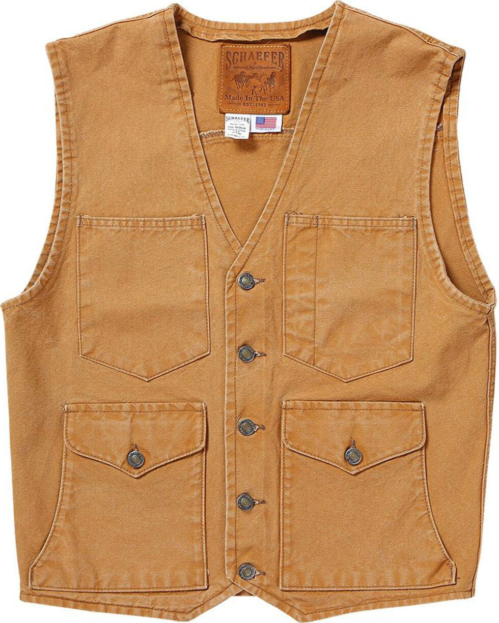 Schaefer Outfitter Men's Saddle Vintage Mesquite Vest, Brown, hi-res