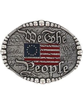 Cody James Men's Silver We The People Belt Buckle , Silver, hi-res