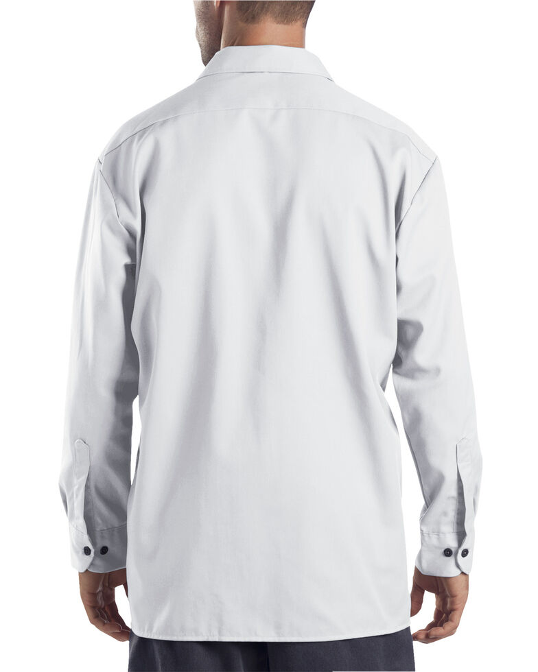 Dickies Twill Work Shirt - Big & Tall, White, hi-res