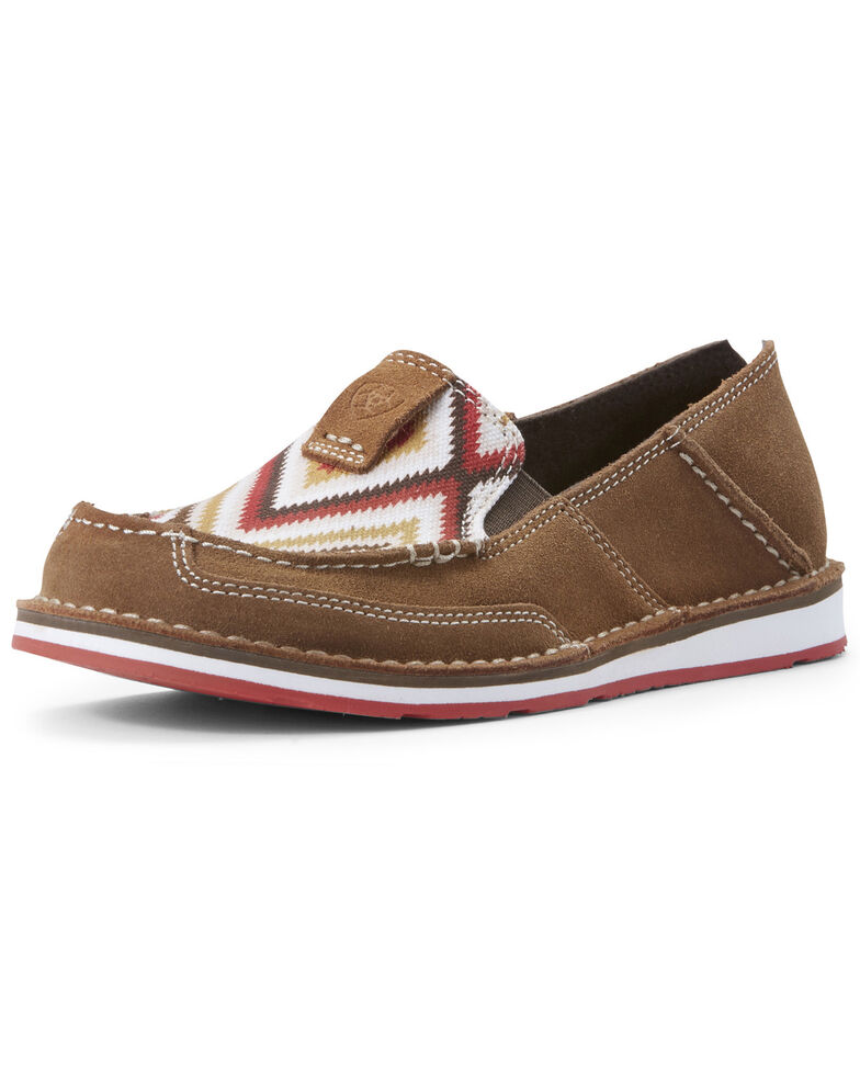 86b72182 Zoomed Image Ariat Women's New Earth Aztec Cruiser Shoes - Moc Toe, Sand,  hi-res