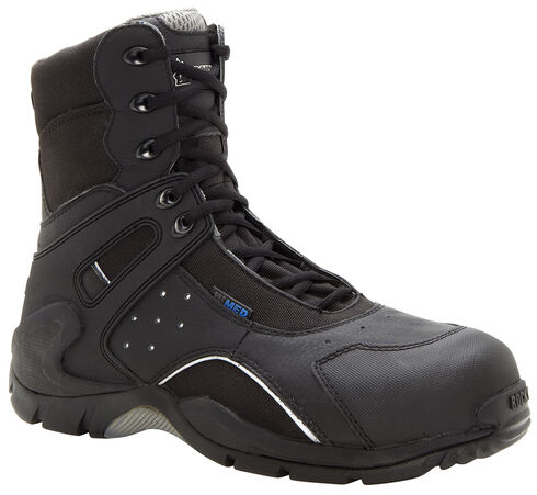 Rocky 1st Med Puncture-Resistant Side-Zip Waterproof Boots - Safety Toe, Black, hi-res