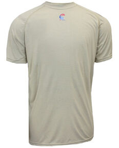 National Safety Apparel Men's Khaki FR Control Short Sleeve Work T-Shirt - Tall, Beige/khaki, hi-res