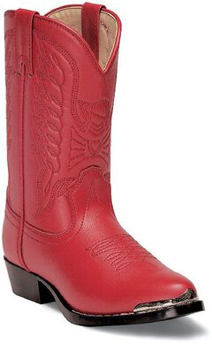 Durango Girls' Red Cowgirl Boots, Red, hi-res
