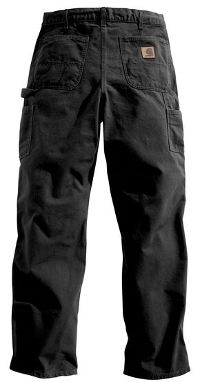 Carhartt Washed Duck Work Dungaree Utility Pants - Big & Tall, Black, hi-res