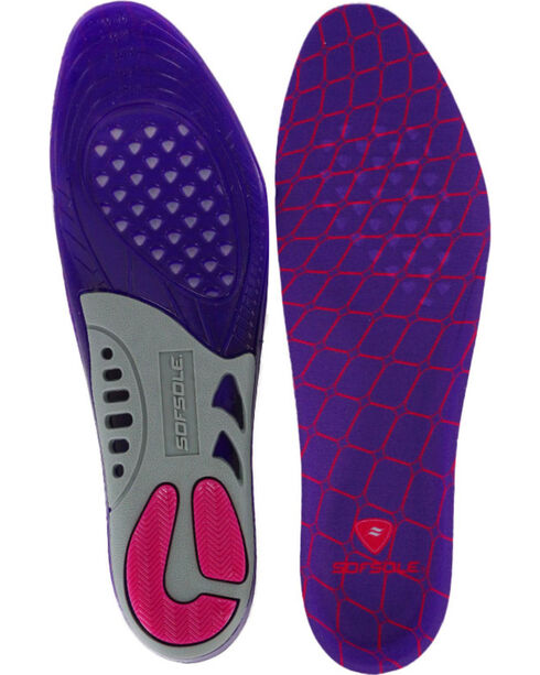 SofSole Women's Gel Support Insole, Blue, hi-res