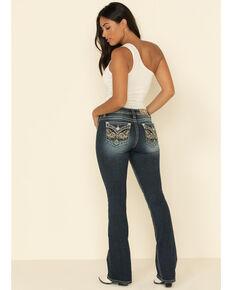 Miss Me Women's Hidden Camo Wing Low Rise Bootcut Jeans, Blue, hi-res