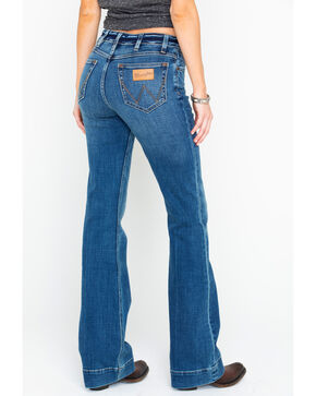 Wrangler Women's Modern High Rise Exaggerated Boot Jeans, Medium Blue, hi-res