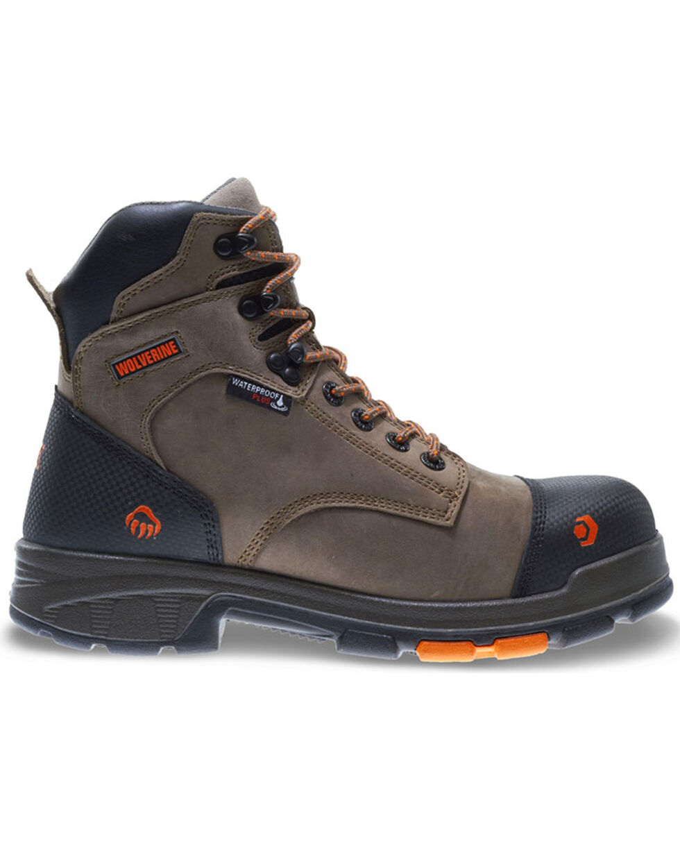 "Wolverine Men's Brown Blade LX Carbonmax 6"" Work Boots - Composite Toe , Brown, hi-res"