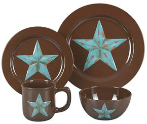 HiEnd Accents Star Dinnerware Set, Brown, hi-res