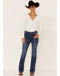 Wrangler Women's Aura Jennifer Dark Wash Bootcut Jeans , Blue, hi-res