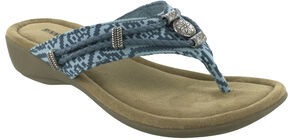 Minnetonka Women's Silverthorne Thong Sandals, Turquoise, hi-res