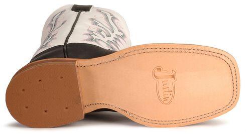 Justin Bent Rail Black Calf Cowboy Boot - Square Toe, Black, hi-res