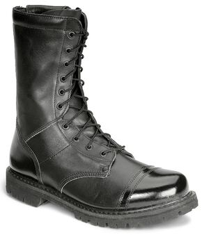 "Rocky 10"" Zipper Jump Boots - Round Toe, Black, hi-res"