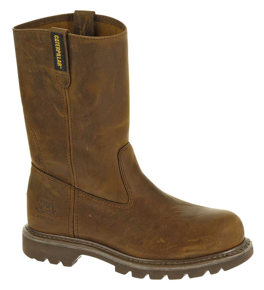 Caterpillar Women's Revolver Work Boots - Steel Toe, Brown, hi-res