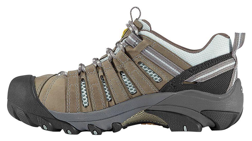 Keen Women's Flint Low Work Shoes - Steel Toe, Olive, hi-res