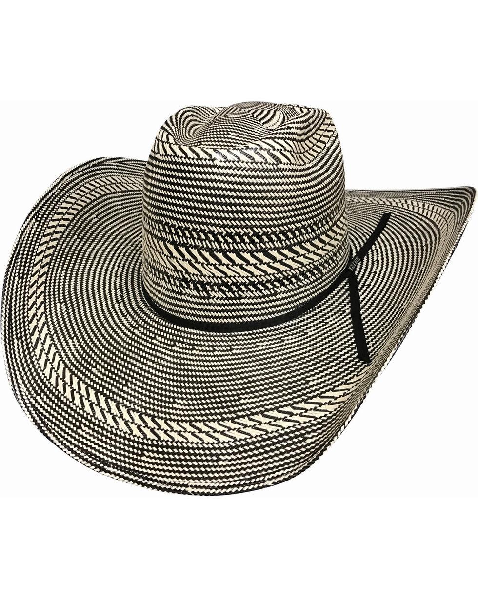 Bullhide Men's The Guru 100X Shantung Panama Hat , Black, hi-res