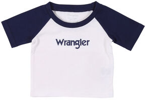 Wrangler Infant Boys' White Baseball Logo Tee, White, hi-res